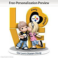 Our Love Is Steelers Strong Personalized Figurine