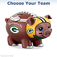 Banking On A Win NFL Football Piggy Bank