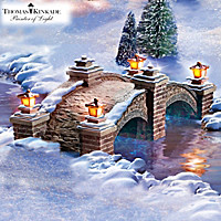 Thomas Kinkade Bridge Of Peace Figurine