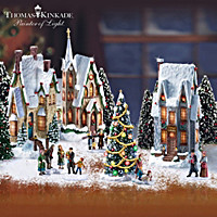 Thomas Kinkade Winter Splendor Christmas Village Set