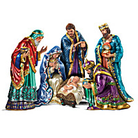The Jeweled Nativity Figurine Set