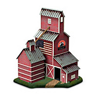 Country Grain Elevator Sculptural Train Accessory