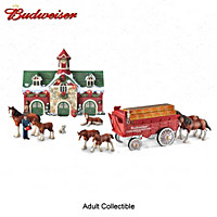 Budweiser Clydesdales Holiday Edition Sculpture Set