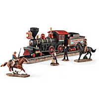 John Wayne And The Iron Horse Outlaws Figurine Set