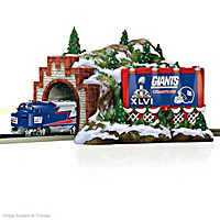 New York Giants Christmas Mountain Tunnel Train Accessory