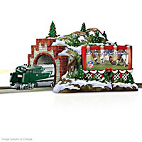 NFL Christmas Mountain Tunnel Train Accessory
