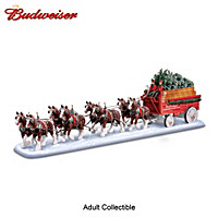 Budweiser Clydesdales Holiday Masterpiece Sculpture