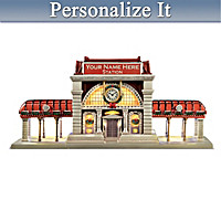Personalized Train Station Sculpture