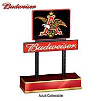 Budweiser A & Eagle Illuminated Sign Sculpture