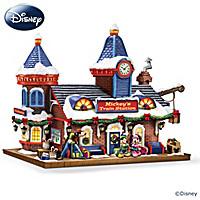 Disney Mickey's Train Station Sculpture