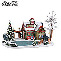 COCA-COLA Happy Holidays Skating Pond Sculpture
