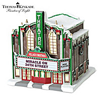 Thomas Kinkade Village Christmas Theater Sculpture