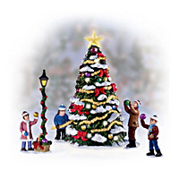 Merry & Bright Christmas Tree Village Accessory Set