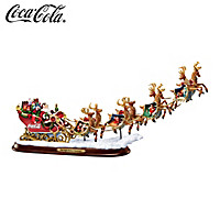 COCA-COLA Night Before Christmas Sculpture