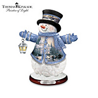 The Thomas Kinkade Victorian Christmas Snowman