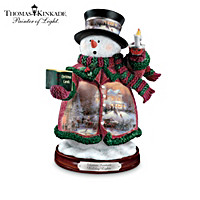Thomas Kinkade Holiday Lights Snowman Figurine