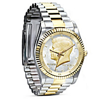 John F. Kennedy 50th Anniversary Coin Men's Watch