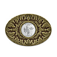 Wyoming State Quarter Belt Buckle