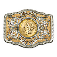 $20 Gold Liberty Belt Buckle