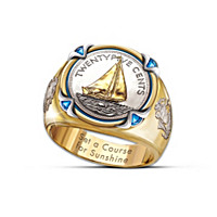 The America's Sailing Coin Ring
