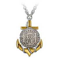 The El Cazador Shipwreck Coin Anchor Pendant Necklace