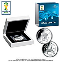 Official Commemorative Silver Coin-2014 FIFA World Cup™