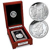 First-Ever Liberty And Britannia 99.9% Silver Crown
