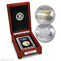 New England Patriots Silver Dollar Coin