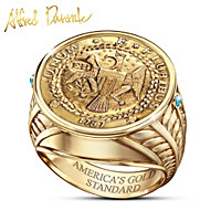 Alfred Durante Brasher Doubloon Coin Ring