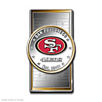 Official San Francisco 49ers Silver Dollar Money Clip
