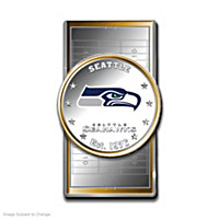 Official Seattle Seahawks Silver Dollar Money Clip