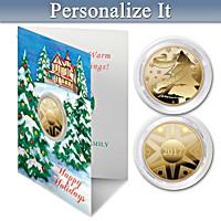 2017 Keepsake Winter's Wonderland Personalized Coin Card Set