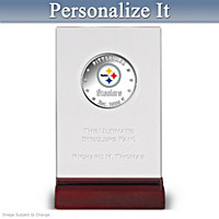 Steelers Silver Dollar Coin With Personalized Display