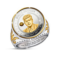 The JFK 100th Anniversary Legacy Silver Coin Ring