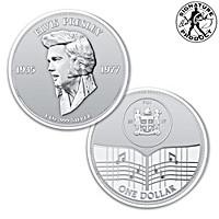 Elvis Presley 40th Anniversary One Ounce Silver Dollar Coin