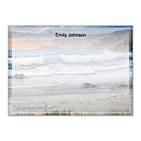 Footprints In The Sand Flat Note Cards