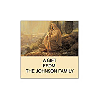 Jesus, Light Of The World Square Labels