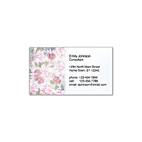Lena Liu's Floral Borders Social Calling Cards