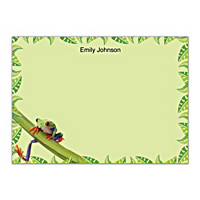 Froggy Fun Flat Note Cards