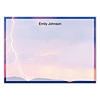 Lightning Strikes Flat Note Cards