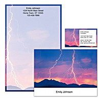 Lightning Strikes Personalized Stationery