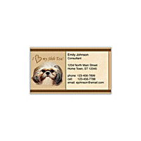 Faithful Friends - Shih Tzu Social Calling Cards