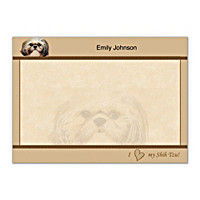 Faithful Friends - Shih Tzu Flat Note Cards
