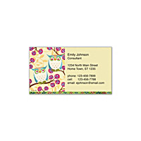 Challis & Roos Awesome Owls Social Calling Cards