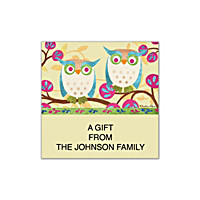 Challis & Roos Awesome Owls Square Labels