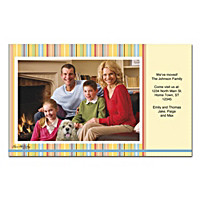 Stripes Photo Insert Cards