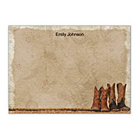 Cowboy Boots Flat Note Cards