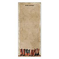 Cowboy Boots List Note Pads