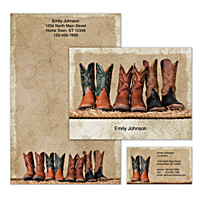 Cowboy Boots Personalized Stationery