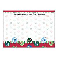 Challis & Roos Happy Howl-idays Flat Note Cards